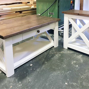 custom wood coffee tables
